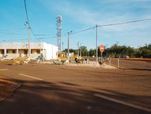 Via a Bamako, Mali fotografia stock libera da diritti