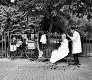Via Barber Bike di Pechino Fotografia Stock Libera da Diritti