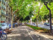 Via a Barcellona Immagini Stock Libere da Diritti