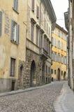 Via a Bergamo Fotografie Stock Libere da Diritti