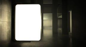 via in bianco 3d che fa pubblicità al tabellone per le affissioni sulla parete Fotografia Stock