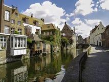 Via a Bruges Fotografia Stock Libera da Diritti