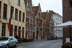Via a Bruges Fotografie Stock