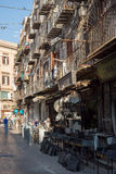 Via Calderai in Palermo. Sicily, Italy. Royalty Free Stock Photo