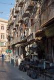 Via Calderai in Palermo. Sicily, Italy. Royalty Free Stock Photo
