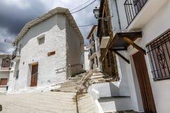 Via calma di Capileira in La Alpujarra, Granada, Spagna Immagini Stock Libere da Diritti
