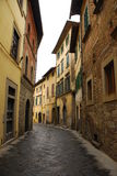 Via in Castiglion Fiorentino Fotografie Stock