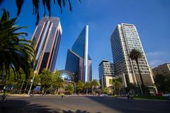 Via CDMX di panorama di Città del Messico Fotografie Stock Libere da Diritti