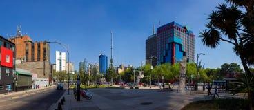 Via CDMX di panorama di Città del Messico Immagini Stock