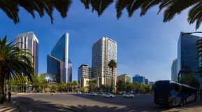 Via CDMX di panorama di Città del Messico Fotografia Stock