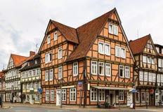 Via in Celle, Germania fotografia stock libera da diritti