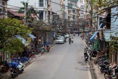Via centrale a Hanoi Fotografie Stock Libere da Diritti