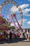 Via centrale a sedicesimo Salem Fair annuale fotografie stock libere da diritti