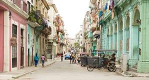 Via in Centro Havana in Cuba fotografie stock