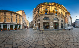 Via Cesare Beccaria and Excelsior Department Store in Milan, Ita Royalty Free Stock Photography