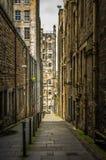 Via in città Edimburgo Scozia Immagini Stock Libere da Diritti