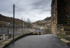 Via cobbled ponte di Hebden Fotografie Stock