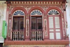 Via coloniale decorata 11, Singapore di purvis degli otturatori e delle finestre Fotografia Stock Libera da Diritti