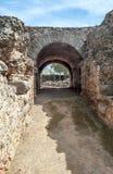 Via con gli arché di pietra Fotografia Stock