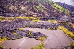 Via con lava in Hawai fotografia stock libera da diritti