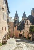 Via con le case medievali Immagini Stock