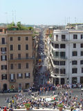 Via Condotti. And Piazza di Spagna, Rome, Italy Stock Photo