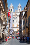Via Condotti on August 6, 2013 in Rome. Stock Photo