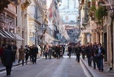 Via Condotti a Roma Fotografie Stock Libere da Diritti