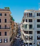Via Condotti Rome Denna gata är mitten av modeshopping Royaltyfria Foton