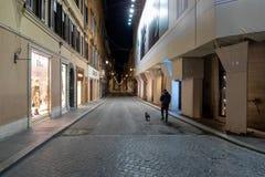 Via Condotti, Rome Italy,  unusually empty due to the coronavirus emergency in Italy