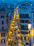Via Condotti, Rome Royalty Free Stock Photography
