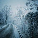 Via congelata Immagine Stock