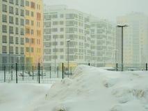 Via coperta di neve caduta Fotografia Stock Libera da Diritti