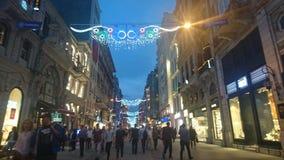 Via Costantinopoli di Istklal Fotografia Stock Libera da Diritti