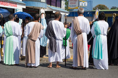 Via Crucis Celebration. In Costa Rica during Easter week Royalty Free Stock Photos