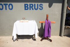 Via Crucis Celebration. In Costa Rica during Easter week Stock Images