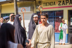 Via Crucis Celebration. In Costa Rica during Easter week Royalty Free Stock Image