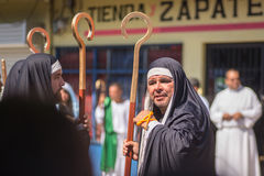 Via Crucis Celebration. In Costa Rica during Easter week Royalty Free Stock Images