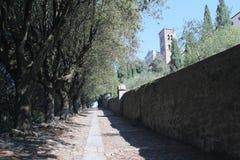 Via Crucis i Cortona Italien Arkivbilder
