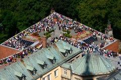 Via Crucis nel monastero di Czestochowa Fotografia Stock
