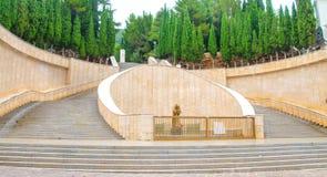Via crucis padre pio san giovanni rotondo. San Giovanni Rotondo, 28 july 2016 - The Via Crucis near the Padre Pio sanctuary in Apulia, Italy Royalty Free Stock Photography