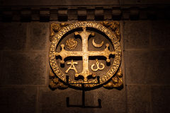 Via crucissignaal Royalty-vrije Stock Foto