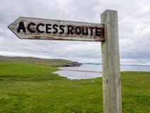 Via d'accesso pubblica del sentiero per pedoni Fotografia Stock