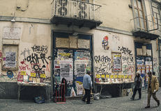 Via d'Alba ,famous street in old town of Naples,Italy Royalty Free Stock Photography