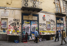 Via d'Alba ,famous street in old town of Naples,Italy Royalty Free Stock Image
