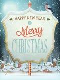 Via d'annata di Natale con l'insegna ENV 10 Fotografie Stock