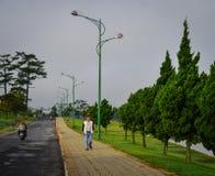 Via in Dalat, Vietnam Immagini Stock