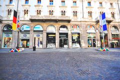 Via Dante-straat, Milaan Stock Foto's