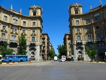 Via de straat van Rome in Palermo, Italië royalty-vrije stock foto