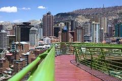 Via de Voetweg van Balcon in La Paz, Bolivië Stock Foto's